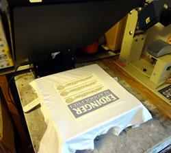Textildruck Sublimation pressen